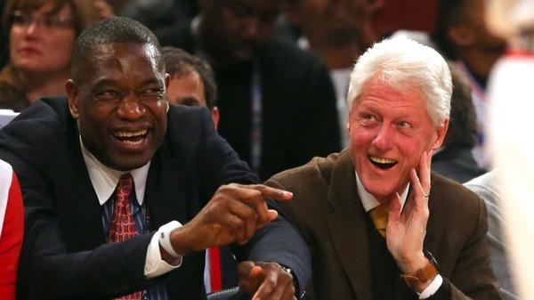 Dikembe Mutombo and Bill Clinton