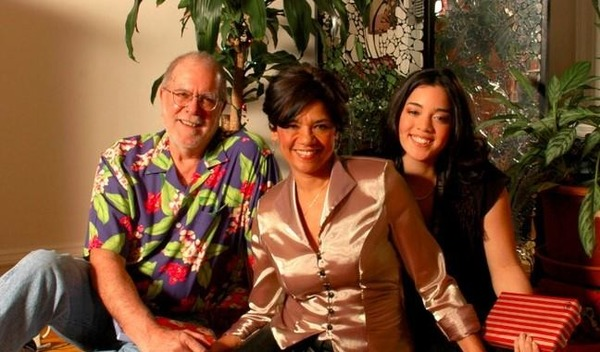 Sonia Manzano with her husband and daughter