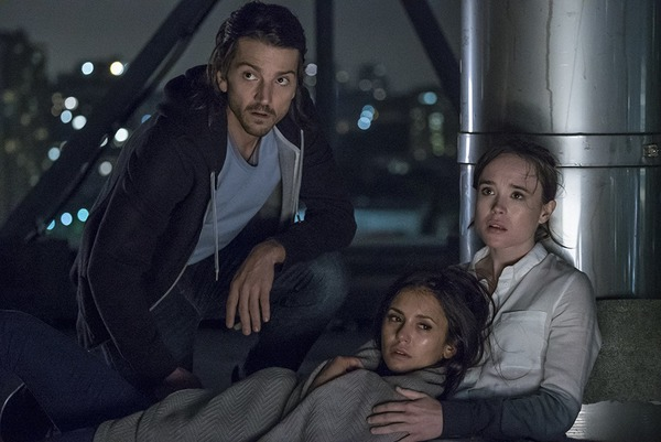 Diego Luna, Ellen Page, and Nina Dobrev in Flatliners