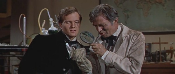 James Mason and Pat Boone in Journey to the Center of the Earth