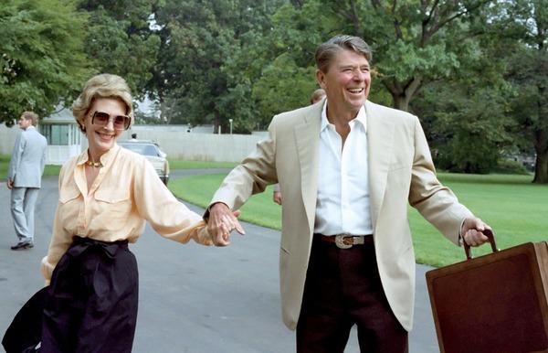 Nancy Reagan and her husband Ronald Reagan