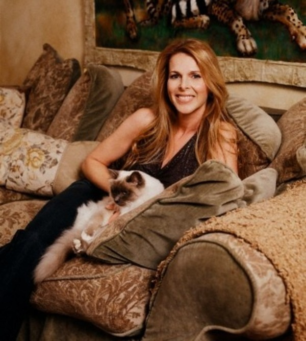 Catherine Oxenberg in her house