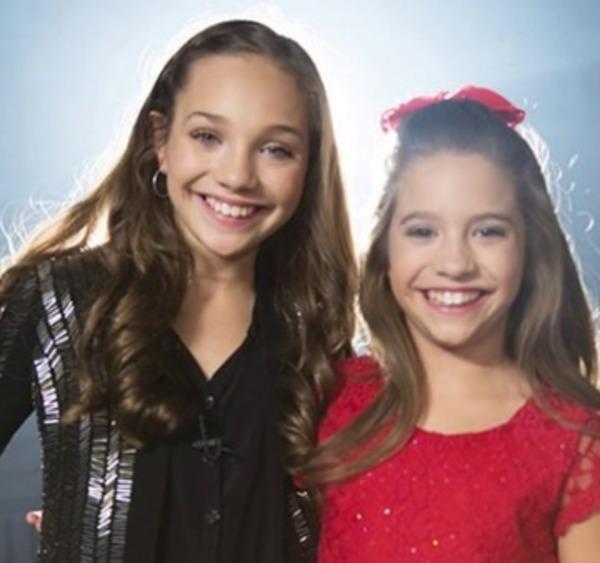 Makenzie Ziegler with her sister Maddie Ziegler