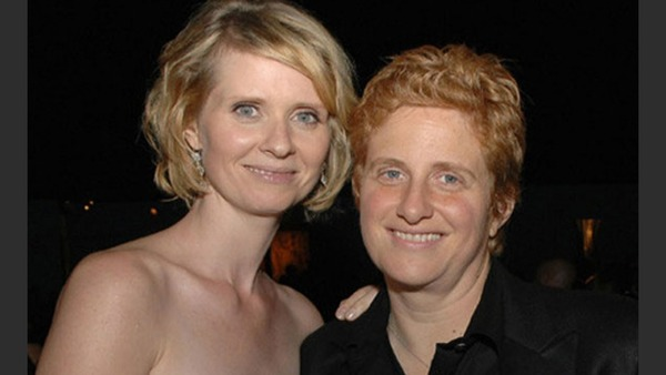 Cynthia Nixon and her partner Christine Marinoni