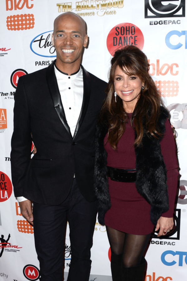 Billy Blanks Jr and his coach Paula Abdul