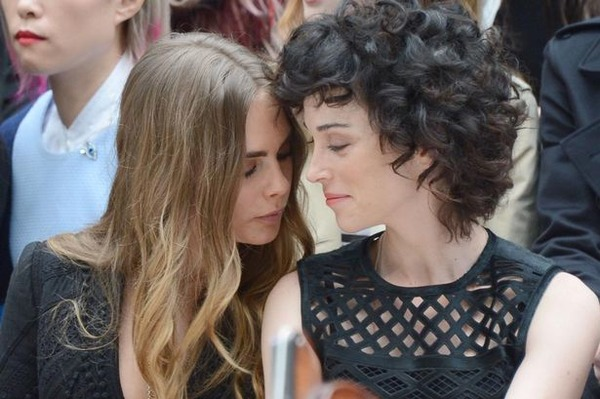 Cara Delevingne with the girlfriend St Vincent