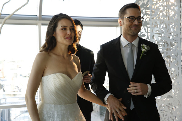 Megan Boone and Ryan Eggold in The Blacklist