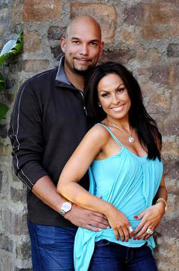 David Justice with his wife Rebecca Villalobos