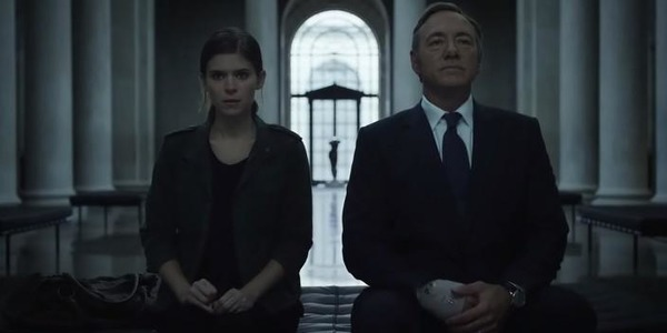 Kevin Spacey and Kate Mara in House of Cards