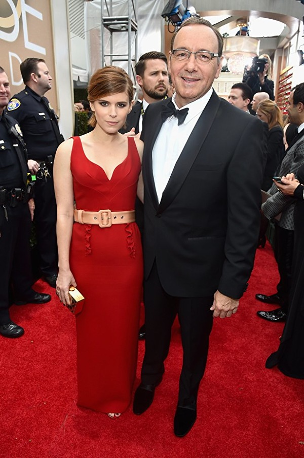 Kevin Spacey and Kate Mara at an event