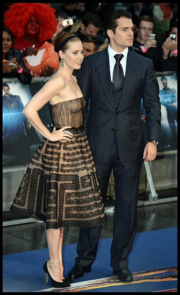 Henry Cavill and Man of Steel co-star Amy Adams