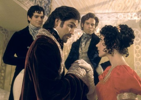 Jim Caviezel, Guy Pearce, Henry Cavill, and Dagmara Dominczyk in The Count of Monte Cristo