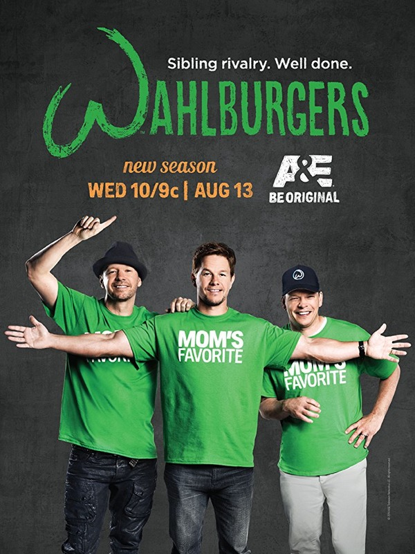 Mark Wahlberg, Donnie Wahlberg, and Paul Wahlberg in Wahlburgers