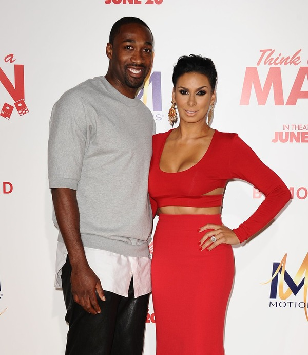 Laura Govan and her ex-partner Gilbert Arenas