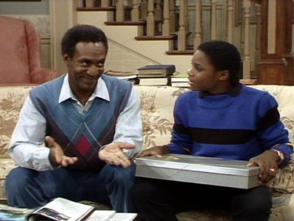 Bill Cosby and Malcolm-Jamal Warner in The Cosby Show