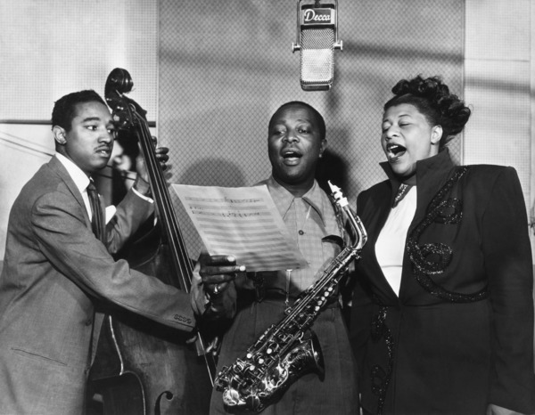 Ella Fitzgerald husband Ray Brown, Louis Jordan and Ella Fitzgerald herself