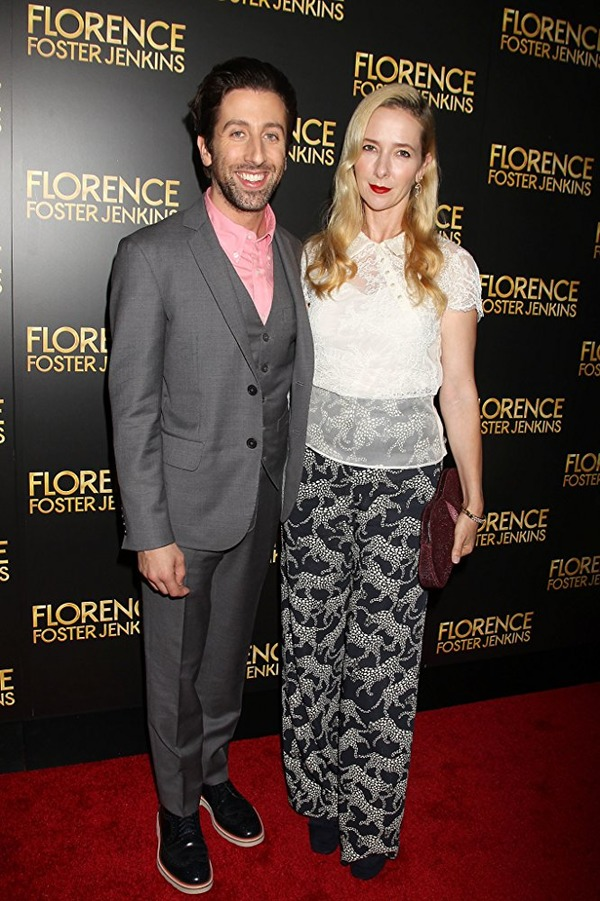 Simon Helberg with his wife Jocelyn Towne at an event